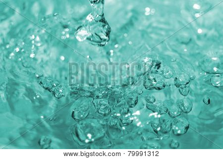 Bubbles In A Water Close Up