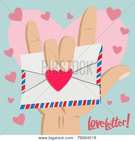 Love Letter With Love Hand Sign