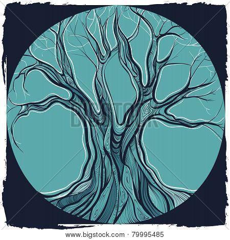 Vector Illustration Of Decorative Tree