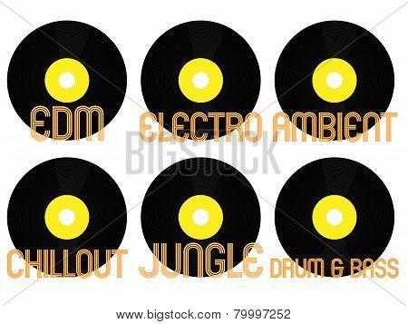 Electronic Music Genres Vinyl