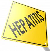 stock photo of hepatitis  - Road sign with hepatitis image with hi - JPG