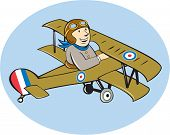 Постер, плакат: Sopwith Camel Scout Airplane Cartoon
