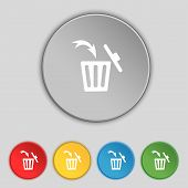 image of recycling bin  - Recycle bin sign icon - JPG