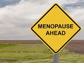 pic of hormone  - Caution Sign Warning About - Menopause Ahead
