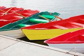picture of ekaterinburg  - Many colorful boats at lake in Ekaterinburg - JPG