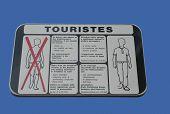 Monaco tourist dress code poster