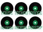 Постер, плакат: Electronic Music Genres Vinyl 4