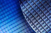 picture of microprocessor  - Macro of Silicon wafers - JPG