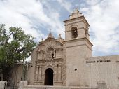 picture of conquistadors  - San Lazaro Church in the historic center of Arequipa Peru - JPG
