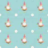 foto of dwarf  - gnome dwarf character vector flat seamless patterns - JPG