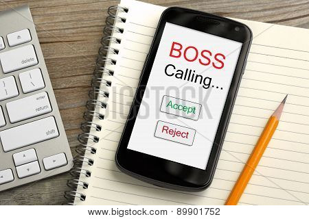 concept of boss calling