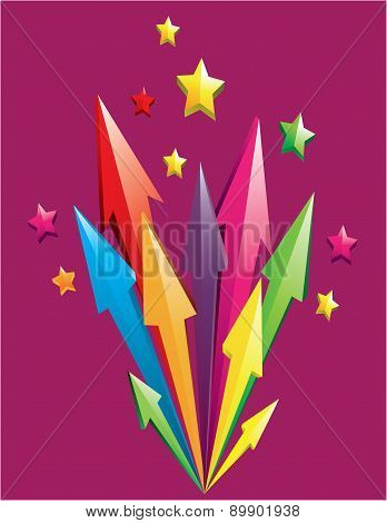 Colorful 3D Arrows