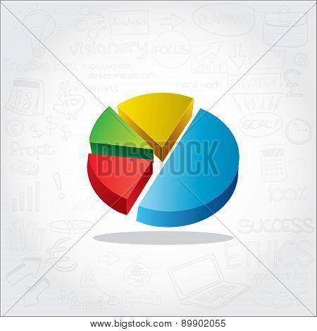 Circle Pie Chart Info Graphic