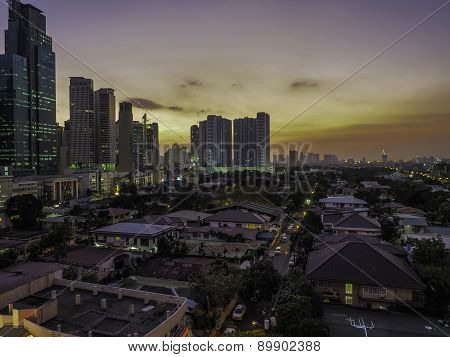 Sunset over Makati