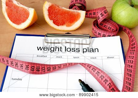 Paper with weight loss plan