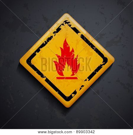 metal sign fire