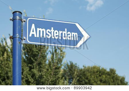 Amsterdam Road Sign