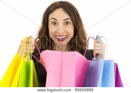 Woman Opening Her Gift Bag