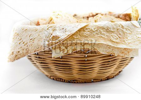 Basket With Bread, Lavash