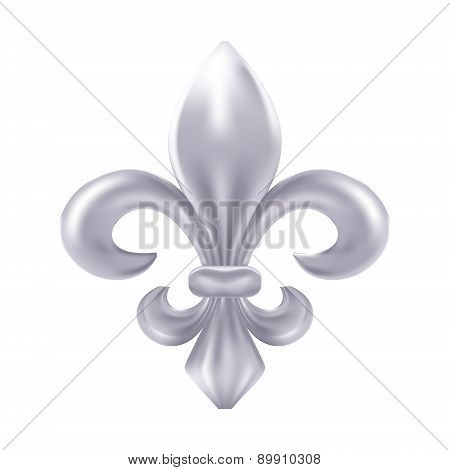 Silver fleur-de-lis decorative design