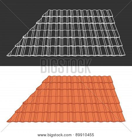 Tile element of roof