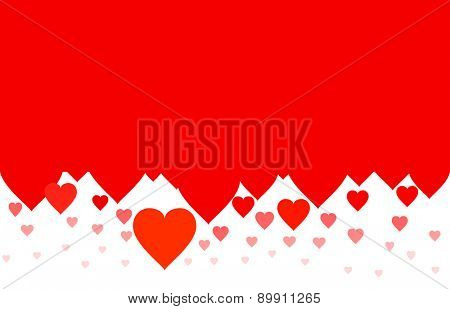 Simple hearts background vector