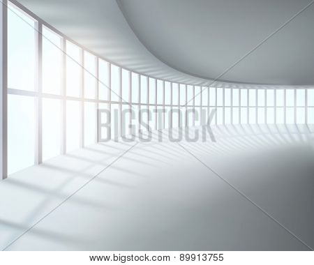 Large room. Vector illustration.