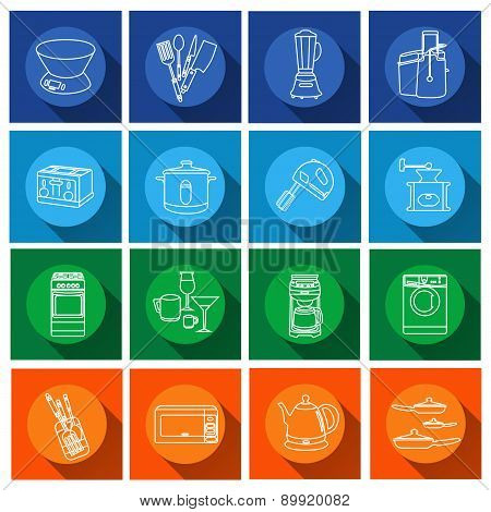 Kitchen appliance.Flat icons
