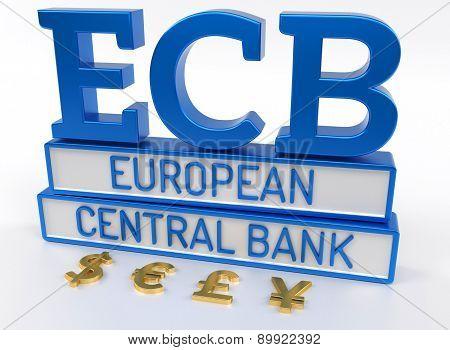Ecb European Central Bank - 3D Render