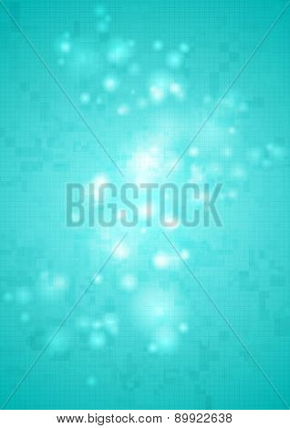 Bright shiny cyan abstract tech background. Vector design