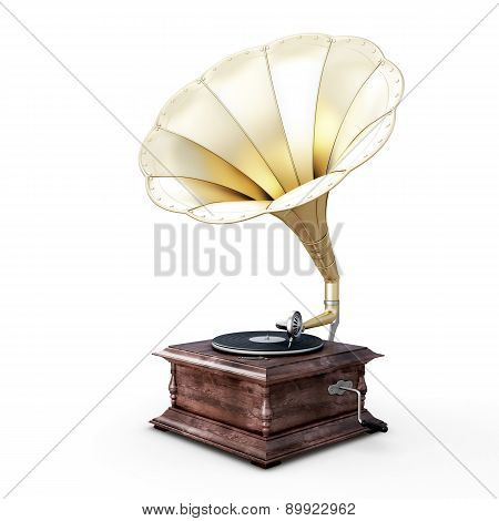 3D Illustration Of Gramophone