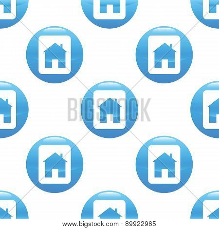 Card with house sign pattern