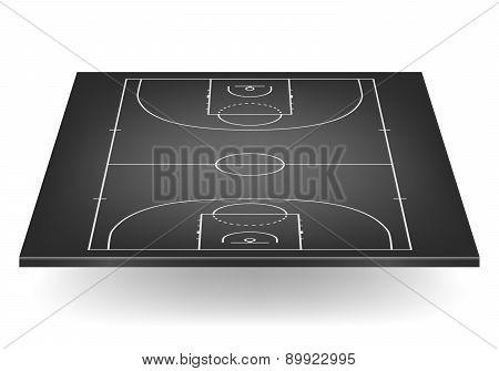 Black Basketball Court