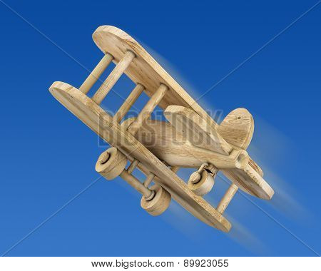 Wooden Plane In The Blue Sky