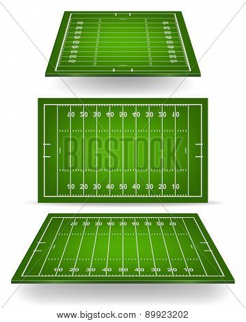 Football Field With Perspective