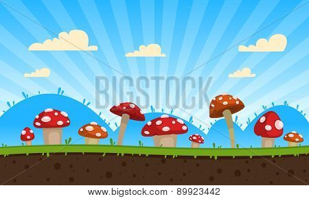 Mushrooms Game Background