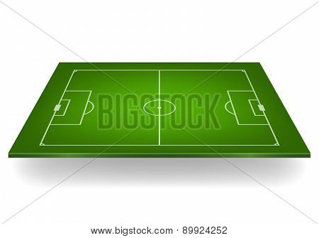 Soccer Field. Vector Illustration.
