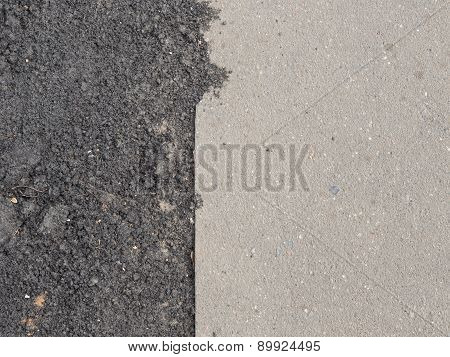 Guby Joint On Gray Pavement