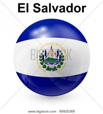 el salvador official flag, button ball