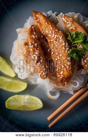 The Chicken In Teriyaki Sauce