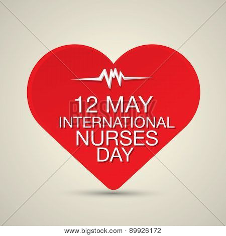 International nurse day concept with heart