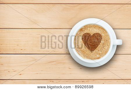 Coffee Concept - Cup Of Latte With Heart