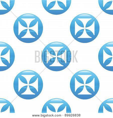 Maltese cross sign pattern