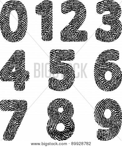 Alphabet With Fingerprint