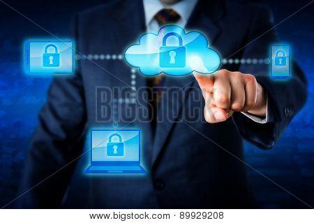 Torso Locking Mobile Devices Via A Cloud Network
