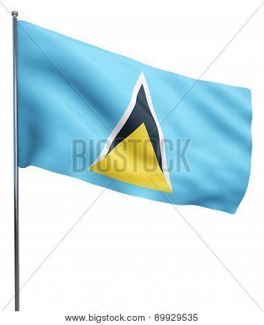 Saint Lucia Flag Image