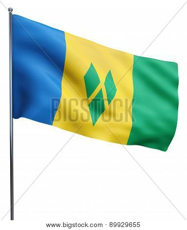 Saint Vincent And The Grenadines Flag Image