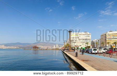 Coastal Cityscape With Walking People, Izmir