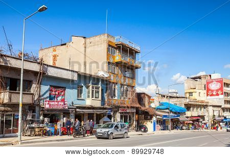 Street View With Ordinary Building Facades, Izmir