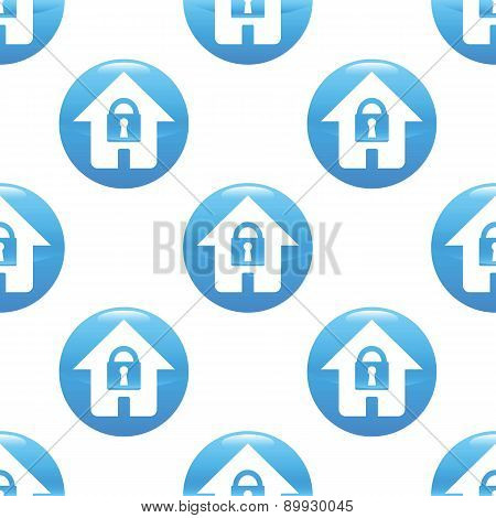 Locked house sign pattern